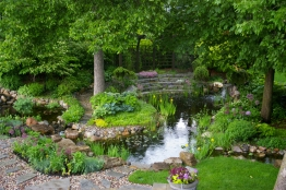 jardin d'eau au printemps