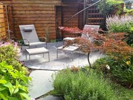 patio ardoise cimenté