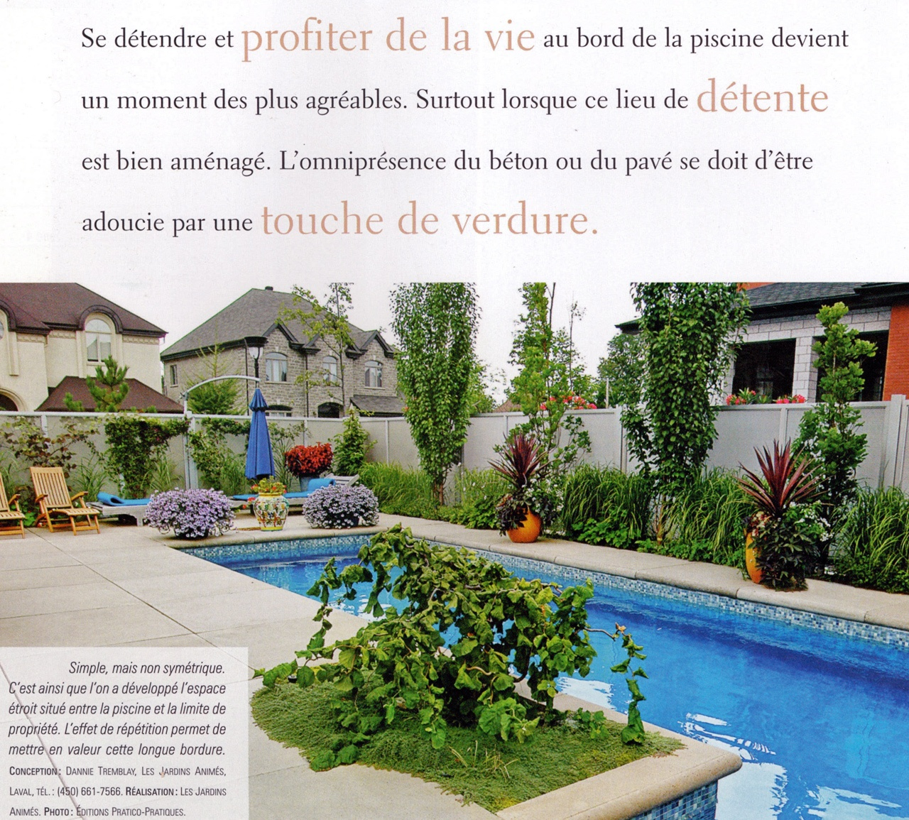 piscine ,Editions pratico-pratique, Je Jardine